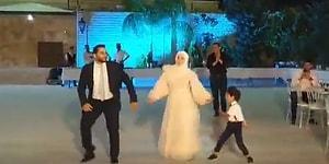 Damat, Gelin ve Çocuklarından Düğünde Muhteşem Koreografi!