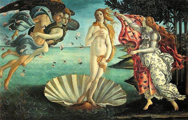 2. Peki Sandro Botticelli'nin 'Venüs'ün Doğuşu'' adlı bu eserinde Venüs'ün hissettiği duygu bunlardan hangisi olabilir?