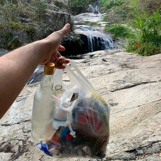 """20. """"Tayland'da bulunan Chiang Mai şehrindeki, çöplerle mahvedilmiş saklı doğal güzellik..."""""""