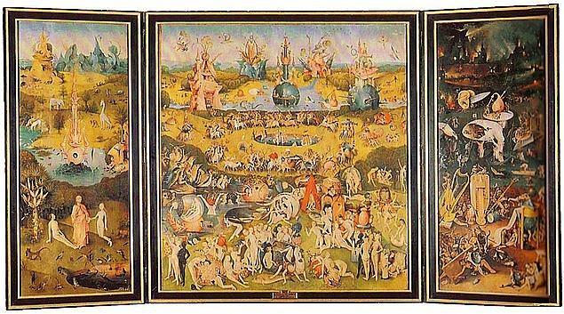 8. Bosch- The Garden of Delights tablosunun en çok hangi kısmı ilgi çekti?