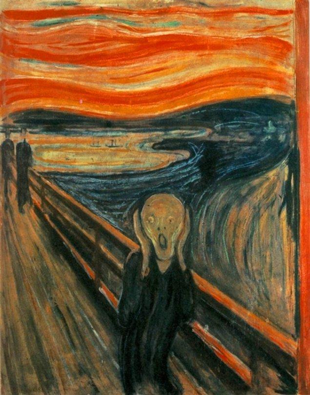 10. Ve son olarak Edward Munch'ın 'Çığlık' adlı eseri sizi ne derece rahatsız ediyor?  ( En az 1 en fazla 5 olarak cevapla)
