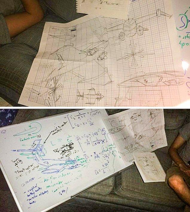 """8. """"Oda arkadaşlarım geçen gece partiden sonra eve geldiler ve bir uçağı tamamen baştan tasarladıklarını hatırlamıyorlar."""""""