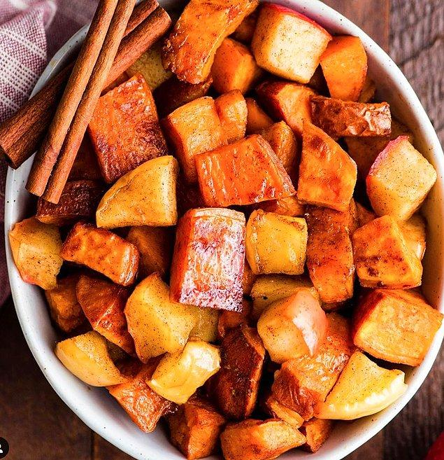 13. Közlenmiş tatlı patates: