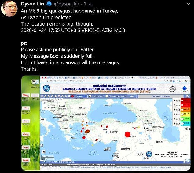 Elazığ depreminin ardından ise tekrar açıklamalarda bulundu...