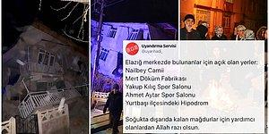 Gün Kenetlenme Günü! Elazığ'daki Depremin Ardından Kapılarını Açanlar ve Yardım Çağrılarına Sessiz Kalmayanlar