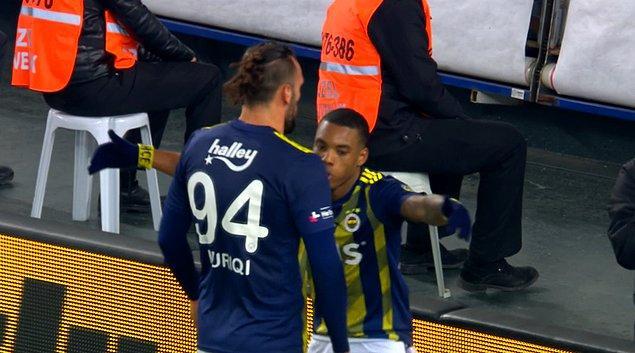 87.dakikada Fenerbahçe, Vedat Muriç'in attığı golle 2-0 öne geçti. Sağ kanattan gelen Garry Rodrigues pasını kale sahasına çıkardı Vedat Muriç'e sadece dokunmak kaldı.