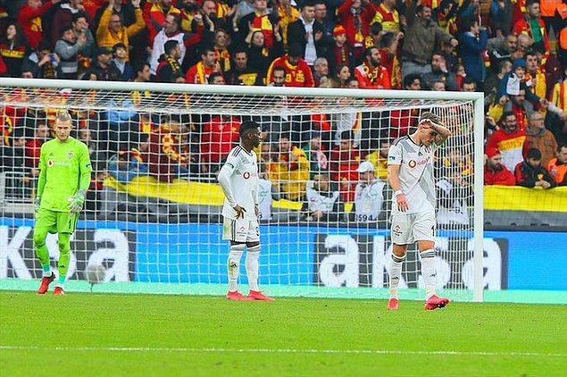 Beşiktaş bu sonuçla son 9 resmi maçında 8.kez kaybetmiş oldu. Göztepe ise puanını 29 yaptı.