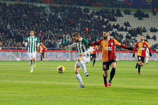Süper Lig'in 19. haftasında Galatasaray, deplasmanda Konyaspor ile karşı karşıya geldi.