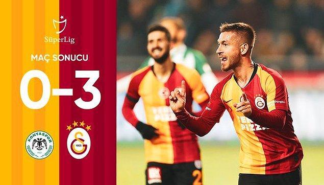 Kalan bölümde başka gol olmadı ve Galatasaray karşılaşmadan 3-0 galip ayrıldı.