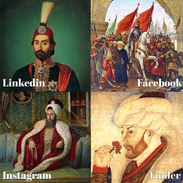 5. Her devre, her sosyal medya platformuna göre padişahlar.