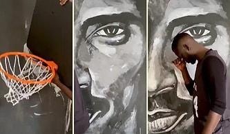 Tanınmış Kişileri Özdeşleştiği Nesnelerle Resmeden Senegalli Sanatçı Bou Bou Niang'dan Kobe Bryant Çalışması!