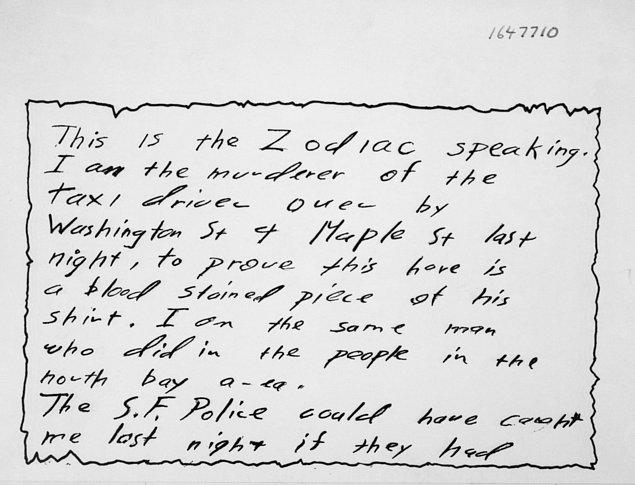 Zodyak'ın sıradaki kurbanı ise sıradan bir müşteri aldığını sanarak katili gideceği yere götürmeye çalışan Paul Stine isimli taksi şoförüydü.