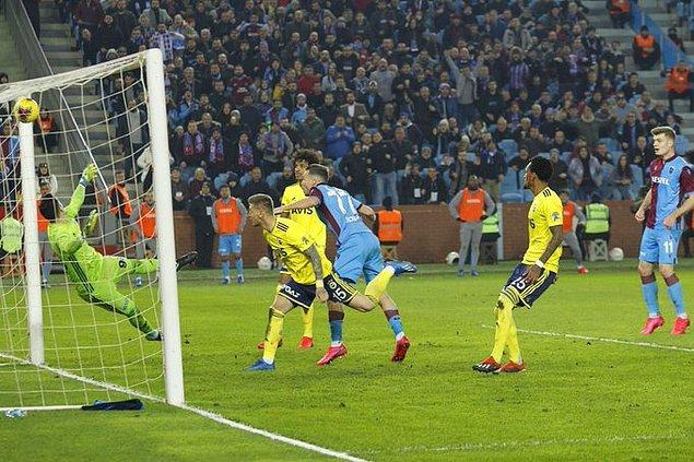 Süper Lig'de 20. haftanın en önemli maçında Trabzonspor, sahasında Fenerbahçe'yi konuk etti.
