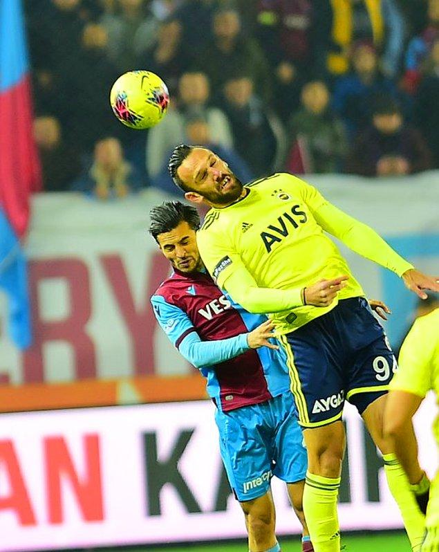 Karşılaşmanın ilk yarısı 2-1'lik Trabzonspor üstünlüğü ile sona erdi.