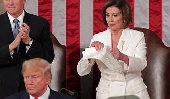 Temsilciler Meclisi Başkanı Nancy Pelosi, Elini Sıkmayan Trump'ın Konuşma Metninin Kopyasını Yırttı
