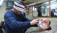 Müşterilerini Gözü Kapalı Tıraş Eden Çılgın Berber