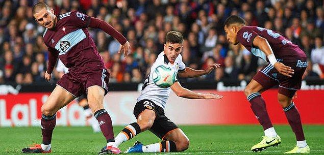 La Liga'nın 22. haftasında Celta Vigo deplasmanda Valencia'ya 1-0 mağlup oldu. Okay Yokuşlu 90 dakika görev yaptı.