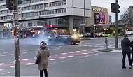 Almanya'nın Başkenti Berlin'de Türklerin Düğün Konvoyu Tepki Çekti: Drift Atıp, Lastik Yaktılar!