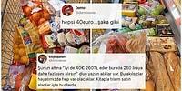 40 Euro Tutarındaki Alışveriş Sepetlerini Paylaşarak Türkiye'de Nasıl Kazıklandığımızı Ortaya Koyan Gurbetçiler