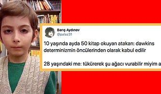 Daha 10 Yaşında 250 Kitap Bitirdiğini Söyleyen Adeta Filozof Havasında Konuşmalar Yapan Atakan'a Gelen Komik Tepkiler
