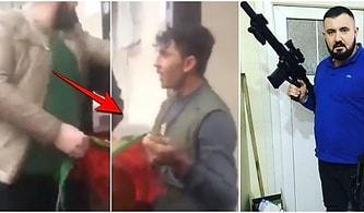 Sokaktaki Afgan Gencin Boynundaki Bayrağı Çıkartarak Irkçı Saldırı Gerçekleştiren Kişi Tepkilerin Odağında
