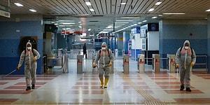 Ankara'da Koronavirüs Önlemi: Toplu Ulaşım İstasyonlarında Dezenfeksiyon Çalışması Yapıldı