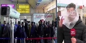 TRT Muhabiri, Canlı Yayında Koronavirüs Haberi Yaparken Suratına Poşet Yapıştı!