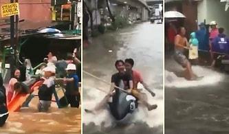 Sel Baskınını Eğlenceli Hale Getiren İnsanlardan Efsane Görüntüler!