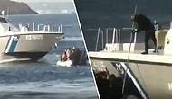 Yunanistan Sahil Güvenlik Teknesinin İçinde Çocukların da Bulunduğu Mülteci Botunu Batırmaya Çalıştığı Korkunç Anlar!