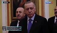 Rus Devlet Televizyonu, Türk Heyetinin Putin'le Görüşme Öncesi Bekletilmesini Kronometre Tutarak Yayınladı