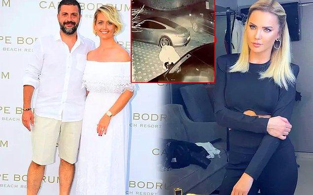 14. Ece Erken, evli sevgilisi Şafak Mahmutyazıcıoğlu ile eşinin arabalarının aynalarını kırdı!