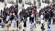 Umre Dönüşü Öğrenci Yurtlarına Alınan Vatandaşlar Dışarı Çıkabilmek İçin Polisle Çarpıştı