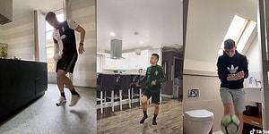 Koronavirüs Salgını Yüzünden Eve Kapanan Sporculardan Tuvalet Kağıtlı Akım: #StayAtHomeChallenge