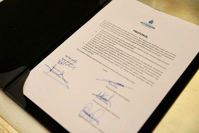 İmzalanan protokol maddeleri
