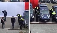 İtalya'da Polisler, Bir Hastanenin Önünde Önce Selam Durdu Ardından Sağlık Çalışanlarını Alkışladı