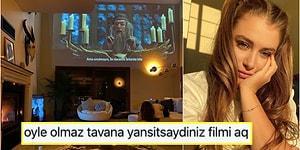 Hande Erçel'in Ablası Gamze Erçel'in Dev Ekranda Film İzlediği Ev Paylaşımı, Sosyal Medyanın Diline Düşmekten Kurtulamadı