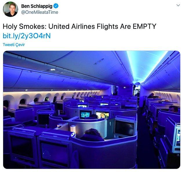 """3. """"Birinci sınıf seçeneği ile bomboş bir uçuş"""""""