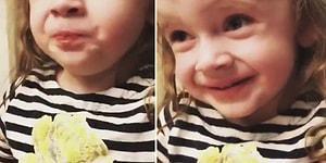 Annesinin Yaptığı Yemeği Beğenmiş Gibi Yapan Ufaklığın Aşırı Zor Anları