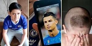 Cristiano Ronaldo Saçı İsteyen Çocuğa Gerçek Ronaldo Tıraşı Yapan Adam