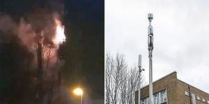 Koronavirüsün 5G ile Yayıldığı Teorilerine İnananlar İngiltere'de Baz İstasyonlarını Ateşe Verdi