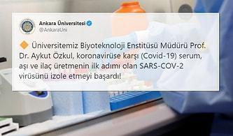Ankara Üniversitesi: 'Aşı ve İlaç Üretiminin İlk Adımı Olan Virüsün İzolasyonunu Başardık'