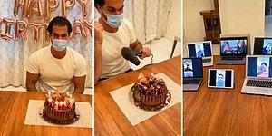 Karantinaya Denk Gelen Doğum Gününü Alışılmışın Dışında Bir Yöntemle Kutlayan Adam