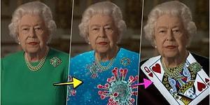 Kraliçe Elizabeth'in Yaptığı Açıklama Sırasında Giydiği Yeşil Elbiseyi Bambaşka Bir Hale Getirerek Yüzümüzde Tebessüm Oluşmasını Sağlayan 25 Kişi