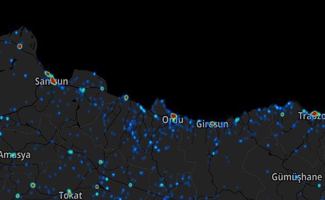 Samsun ve Karadeniz Bölgesi Koronavirüs Haritası