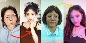 Asyalı Kadınların Makyajın Vermiş Olduğu Yetkiye Dayanarak Bambaşka Bir İnsana Dönüştüklerinin Kanıtı 13 İnanılmaz Değişim