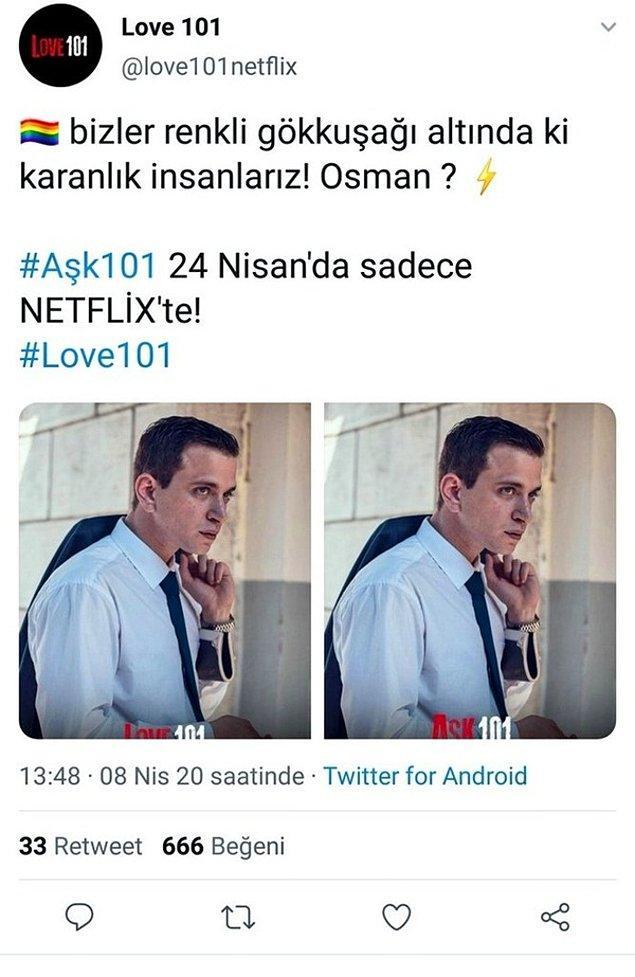 Selahattin Paşalı'nın canlandırdığı Osman karakterinin bir sahte hesabın eşcinsel olduğu yalanını söylemesi üzerine dizi eleştiri yağmuruna tutuldu.