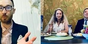 Koronavirüs Salgını Yüzünden Düğünlerini İnternet Üzerinden Yapan Çift