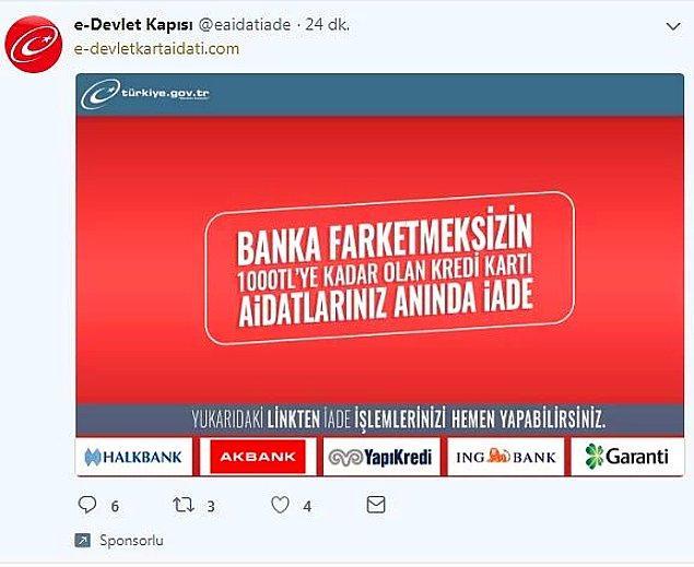 E-Devlet'e ilişkin tek resmi web adresi turkiye.gov.tr'dir. Bu adresin dışındaki adreslere itibar etmemeniz gerekiyor.