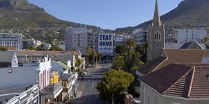 Hayalet Şehre Dönüşen Güney Afrika'nın Başkenti Cape Town Drone ile Görüntülendi
