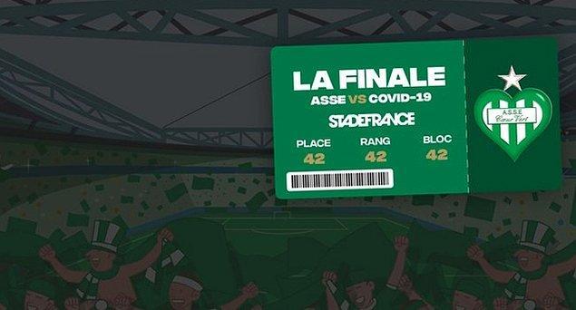 8. Fransa Kupası finalisti St. Etienne, ertelenen final karşılaşmasının biletlerini koronavirüs ile mücadeleye destek için satıyor. Elde edilecek gelir hastaneye bağışlanacak.